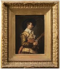 Ferdinand ROYBET - Portrait d'un mousquetaire à l'arquebuse