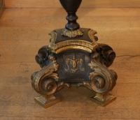 Grande paire de chandeliers en bronze de style Régence du XIX ème siècle