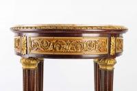 Guéridon Napoléon III en acajou et ornements de bronze