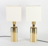 Paire de lampes années 70