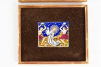 Pair Of Small Plates In Enamels Of The Early 20th Century
