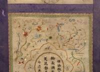 Peinture sur soie Chine 18e siècle