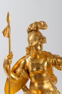 Sculpture en bronze doré signée Raingo Frères