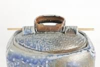 François Galissaires - Grand coffret sculptural en grès au sel