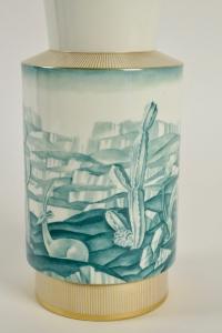 Vase en porcelaine de Sèvres Art Déco