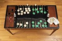 A Louis XVI period (1774 - 1793) tric-trac game table.