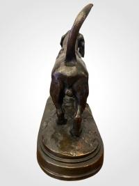 Basset Anglais Par Antoine-louis Barye (1795-1875) , Barbedienne Fondeur