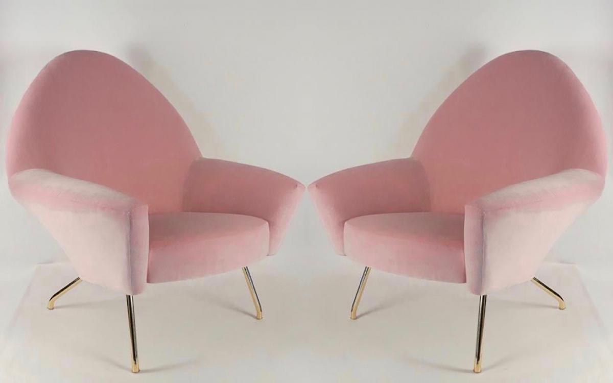 le march biron paire de fauteuils de joseph andr motte mod le 770 1950. Black Bedroom Furniture Sets. Home Design Ideas