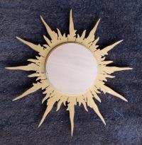 1950/70 ' Miroir soleil Convexe,Bois Doré 69 cm