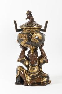 Important Brûle-Parfum en bronze japonais époque Meiji (1868-1912) fin 19ème siècle