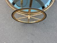 1950/70' Bar Roulant Rond à roulettes