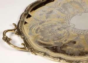 PLATEAU OVAL EN VERMEIL, XIXème