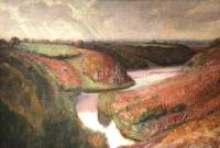 DETROY Léon Ecole Française Tableau Fauve début 20ème siècle Ecole de Crozant Huile sur toile signée Vue de France La vallée de la Creuse