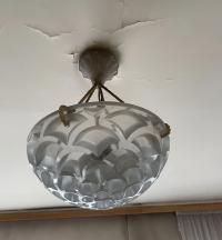 """René Lalique """"Rinceaux"""" Plafonnier"""