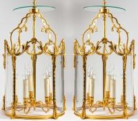 Paire de lanternes style Louis XV. XIXème siècle.