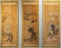 Triptyque de Kakemono En-Suite Aigles & Dragon