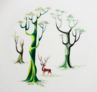 Louis-Robert Mallet - Porcelaine à décor peint de petit feu