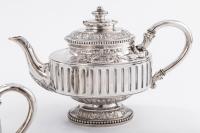 Orfèvre Gustave ODIOT - Service thé café 4 pièceès en argent XIX