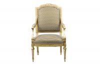 Paire de fauteuils style Louis XVI en bois doré, vers 1880