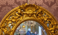 Miroir ovale dans le goût de la Renaissance époque Napoléon III