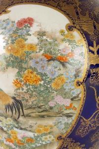 Rare vase en faïence de Satsuma signé Kinkozan