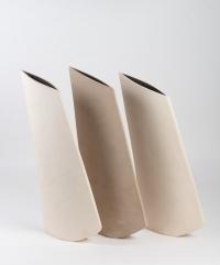 Val BARRY - Trois vases en grès années 70