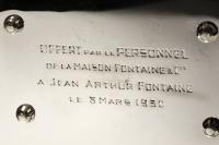 JEAN E. PUIFORCAT - IMPORTANT CENTRE DE TABLE EN ARGENT ART DECO