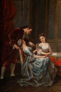 Peintre Adolphe Francois Monfallet