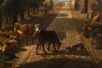 Paysage Animé Hollandais Du XVIII ème Siècle.