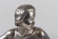 Sculpture en bronze argenté de Auguste Guénot