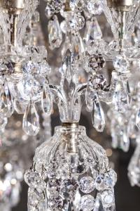 Exceptionnel lustre de la cristallerie Baccarat. Début XXème.