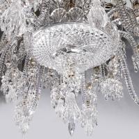 Exceptionnel lustre de la cristallerie Baccarat, 19 ème.