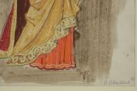 Dessin et Aquarelle, Personnage du Théâtre Russe, Art Russe