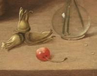 Panier de quetsches et vase de fleurs – Entourage d'Isaak Soreau (1604 – 1644)