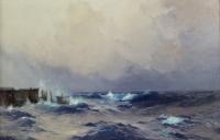 HANZEN Alexis Vasilievich  ( Odessa 1876, 1937) école russe.  Marine.