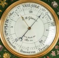 A Napoleon III period (1851 - 1870) Barometer - Thermometer.
