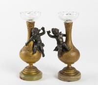Paire de vases en bronze Napoléon III