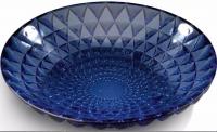 RENE LALIQUE (1860-1945) Coupe  «Rosace» en verre bleu