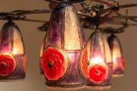 """Lustre Plafonnier """"Rosaces"""" pâte de verre de Gabriel ARGY-ROUSSEAU"""