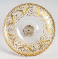 Vide poche 1900, en cristal doré