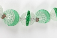 Collier « Dahlias et Plaquettes » verre blanc et verre vert de René LALIQUE